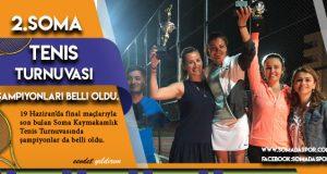 2.Soma Tenis Turnuvasında Şampiyonlar Belli Oldu.