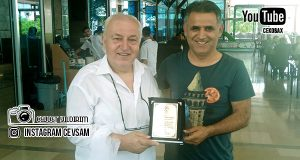 Mehmet Dadal'dan Burhanettin Basatemür'a Plaket