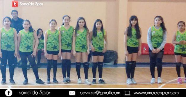 Soma Okul Sporları Küçük Kızlar Voleybol Karşılaşması