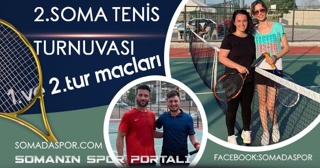 Soma Kaymakamlık Tenis Turnuvasında Heyecan Devam Ediyor.