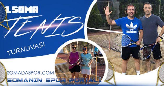 Soma Tenis Turnuvası Sona Erdi..
