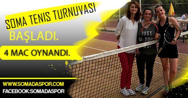 Soma Tenis Turnuvası Başladı.