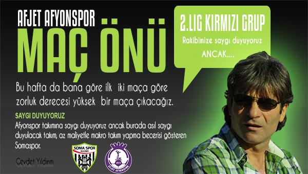 Somaspor- Afjet Afyonspor Maç Önü