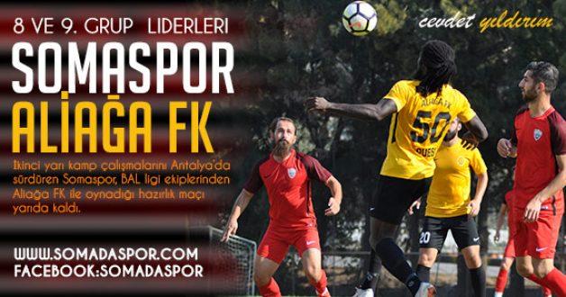 Somaspor'un 1-0 Önde Olduğu Aliağa FK Maçı, Yarıda Kaldı.