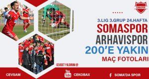 Somaspor Arhavispor Maç Fotoları