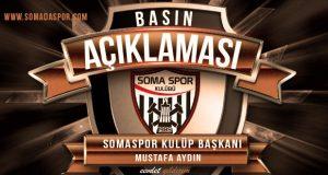 Somaspor Kulübünden Basın Açıklaması