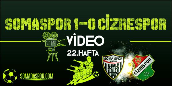 Somaspor Cizrespor Maçının Geniş Özeti (VİDEO)