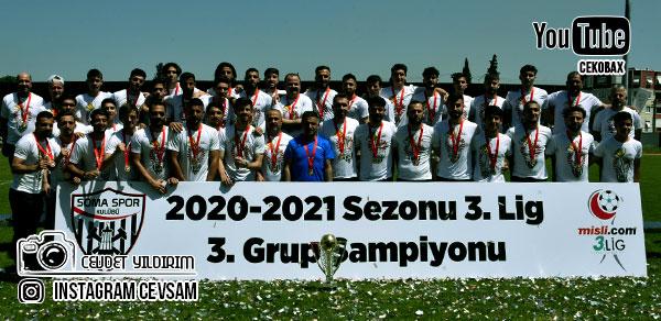 Şampiyon Somaspor 2.Lig Kupasını aldı