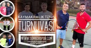 Soma Tenis Turnuvasında Nefesler Tutuldu