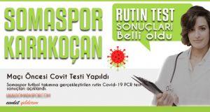 Somaspor'a Karakoçan Maçı Öncesi Covit Testi Yapıldı